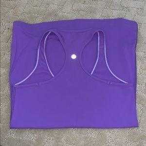 purple lulu lemon tank top